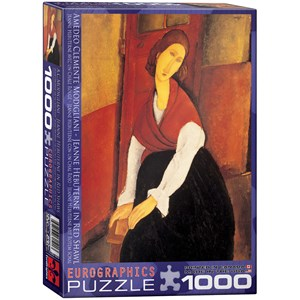 """Eurographics (6000-1501) - Amedeo Modigliani: """"Jeanne Hebuterne in Red Shawl"""" - 1000 pieces puzzle"""