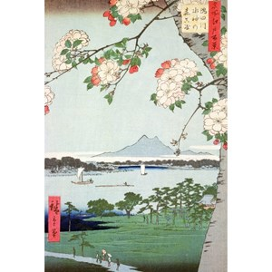 "Puzzle Michele Wilson (A974-350) - Utagawa (Ando) Hiroshige: ""Apple Trees in Bloom"" - 350 pieces puzzle"