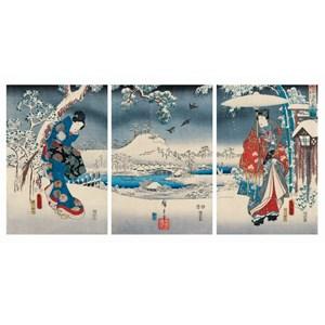"Puzzle Michele Wilson (A541-2500) - Utagawa (Ando) Hiroshige: ""Genji"" - 2500 pieces puzzle"