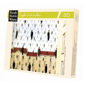 """Puzzle Michele Wilson (A550-80) - Rene Magritte: """"Golconde, 1953"""" - 80 pieces puzzle"""