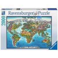 "Ravensburger (16683) - ""World Map"" - 2000 pieces puzzle"