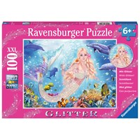 """Ravensburger (13642) - """"Mermaid and Dolphins"""" - 100 pieces puzzle"""