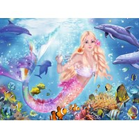 "Ravensburger (13642) - ""Mermaid and Dolphins"" - 100 pieces puzzle"
