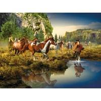 "Ravensburger (16304) - Roberta Wesley: ""Wild Horses"" - 1500 pieces puzzle"