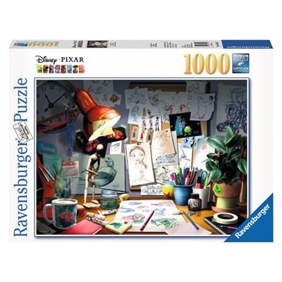 """Ravensburger (19432) - """"The Artist's Desk"""" - 1000 pieces puzzle"""