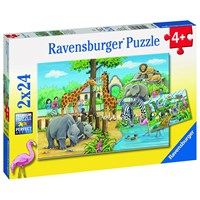 """Ravensburger (07806) - """"Welcome to the Zoo"""" - 24 pieces puzzle"""