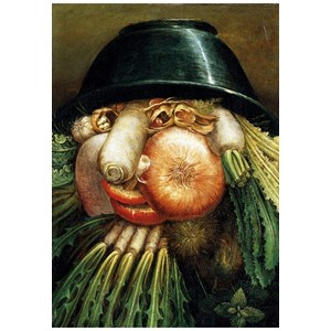 """Puzzle Michele Wilson (W97-12) - Giuseppe Arcimboldo: """"The Greengrocer"""" - 12 pieces puzzle"""