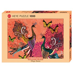 "Heye (29821) - Turnowsky: ""Peacocks & Butterflies"" - 1000 pieces puzzle"