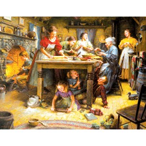"""SunsOut (26739) - Morgan Weistling: """"Family Traditions"""" - 1000 pieces puzzle"""