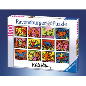 "Ravensburger (15615) - Keith Haring: ""Retrospective"" - 1000 pieces puzzle"
