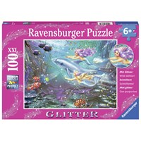 "Ravensburger (13683) - Zorina Baldescu: ""Little Mermaids"" - 100 pieces puzzle"