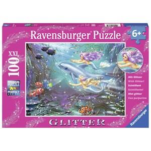 """Ravensburger (13683) - Zorina Baldescu: """"Little Mermaids"""" - 100 pieces puzzle"""