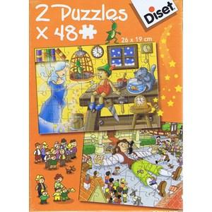 """Diset (69586) - """"Pinocchio and Gulliver"""" - 48 pieces puzzle"""