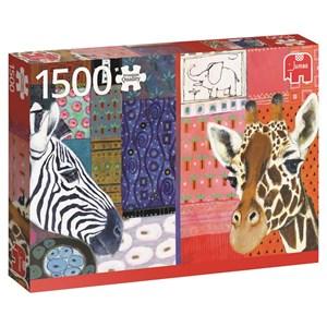 """Jumbo (18585) - Eugen Stross: """"African Art"""" - 1500 pieces puzzle"""