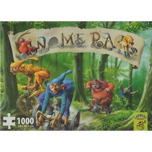 """PuzzelMan (Lauwers-Games-05063) - """"Gnome Race"""" - 1000 pieces puzzle"""