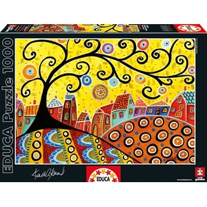 """Educa (16296) - Karla Gerard: """"Blooming Village"""" - 1000 pieces puzzle"""