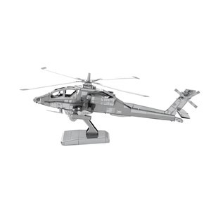 "Metal Earth (Metal-Earth-MMS083) - ""Apache AH-64"" - 20 pieces puzzle"