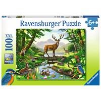 "Ravensburger (10568) - Chris Hiett: ""Woodland Harmony"" - 100 pieces puzzle"