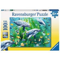 "Ravensburger (10605) - ""Dolphin Trio"" - 100 pieces puzzle"