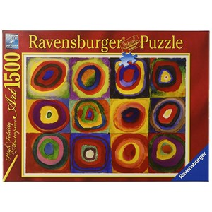 "Ravensburger (16377) - Vassily Kandinsky: ""Squares with Concentric Rings"" - 1500 pieces puzzle"