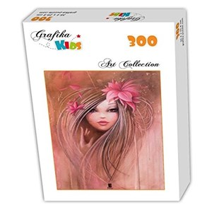 "Grafika Kids (00722) - Misstigri: ""Sweet Pinky Girl"" - 300 pieces puzzle"