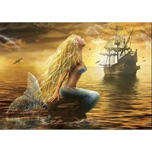 "Gold Puzzle (61406) - ""Mermaid"" - 1000 pieces puzzle"