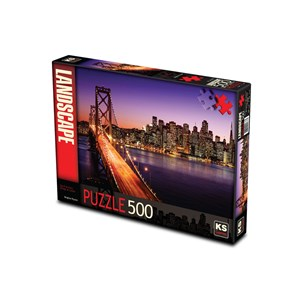 "KS Games (11376) - Brigitte Peyton: ""San Francisco Bridge at Sunset"" - 500 pieces puzzle"