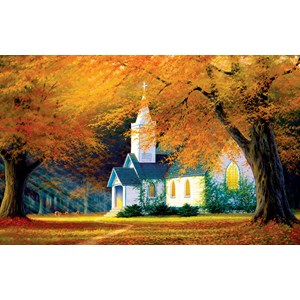 "SunsOut (48560) - Charles White: ""Church in the Glen"" - 550 pieces puzzle"