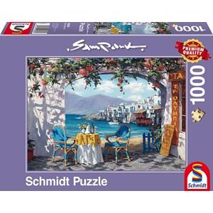 """Schmidt Spiele (59396) - Sam Park: """"Rendez-vous at Mykonos"""" - 1000 pieces puzzle"""