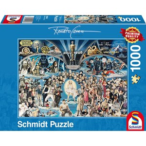 """Schmidt Spiele (59398) - Renato Casaro: """"Hollywood"""" - 1000 pieces puzzle"""