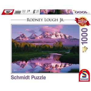 """Schmidt Spiele (59386) - Rodney Lough Jr.: """"Day Dreaming, The Grand Teton National Park, Wyoming"""" - 1000 pieces puzzle"""