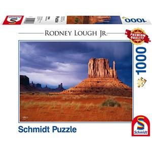 "Schmidt Spiele (59388) - Rodney Lough Jr.: ""Left Handed, Navajo Indian Tribal Reservation, Arizona"" - 1000 pieces puzzle"