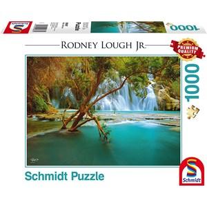 """Schmidt Spiele (59387) - Rodney Lough Jr.: """"Canyon Song, Havasupai Indian Reservation, Arizona"""" - 1000 pieces puzzle"""