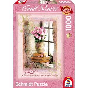 """Schmidt Spiele (59392) - Gail Marie: """"Love"""" - 1000 pieces puzzle"""