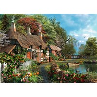 "Ravensburger (13580) - Dominic Davison: ""Cottage on a Lake"" - 300 pieces puzzle"