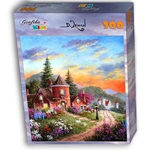 """Grafika Kids (01900) - Dennis Lewan: """"Castle Ridge Manor"""" - 300 pieces puzzle"""