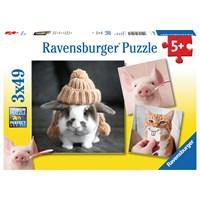 "Ravensburger (08028) - ""Funny Animal Portraits"" - 49 pieces puzzle"