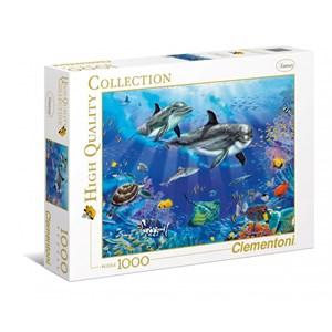 """Clementoni (94051) - Christian Riese Lassen: """"Dolphins"""" - 1000 pieces puzzle"""