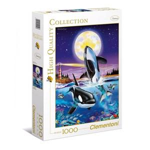 """Clementoni (94052) - Christian Riese Lassen: """"Killer whales"""" - 1000 pieces puzzle"""