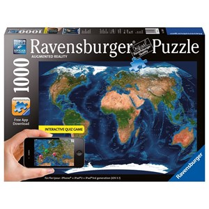 "Ravensburger (19308) - ""World Map"" - 1000 pieces puzzle"
