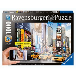 """Ravensburger (19306) - """"Colorful Activity at Times Square, New York"""" - 1000 pieces puzzle"""