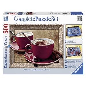 """Ravensburger (14892) - """"Time for Cappuccino"""" - 500 pieces puzzle"""