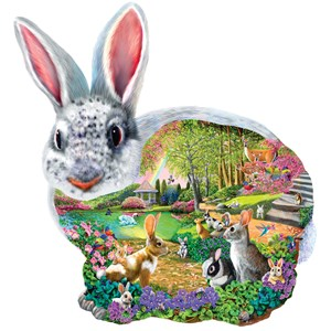 "SunsOut (95165) - Mary Thompson: ""Bunny Hollow"" - 1000 pieces puzzle"