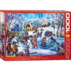 "Eurographics (6000-5333) - Katerina Mertikas: ""Snow Day"" - 1000 pieces puzzle"