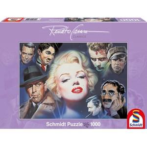 "Schmidt Spiele (57550) - Renato Casaro: ""Marilyn Monroe and Friends"" - 1000 pieces puzzle"