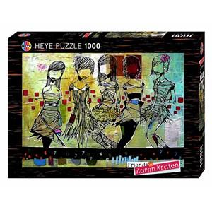 """Heye (29418) - Aaron Kraten: """"Girls / Filles"""" - 1000 pieces puzzle"""
