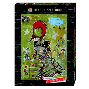 """Heye (29417) - Aaron Kraten: """"Redhead"""" - 1000 pieces puzzle"""