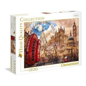 """Clementoni (31807) - """"Vintage London"""" - 1500 pieces puzzle"""