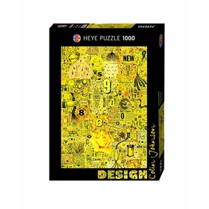 "Heye (29556) - Colin Johnson: ""Yellow Rose"" - 1000 pieces puzzle"