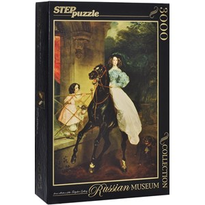 "Step Puzzle (85202) - Karl Bryullov: ""The Rider"" - 3000 pieces puzzle"